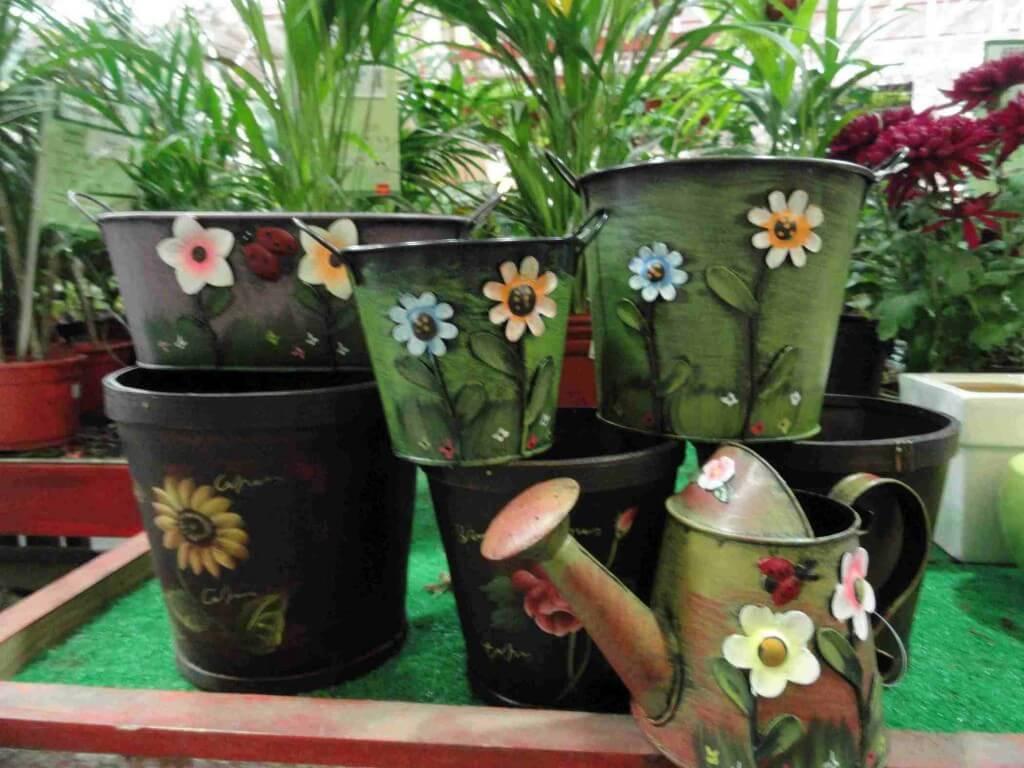 Macetas artesanales de lata el jardin en casa - Macetas de jardin ...